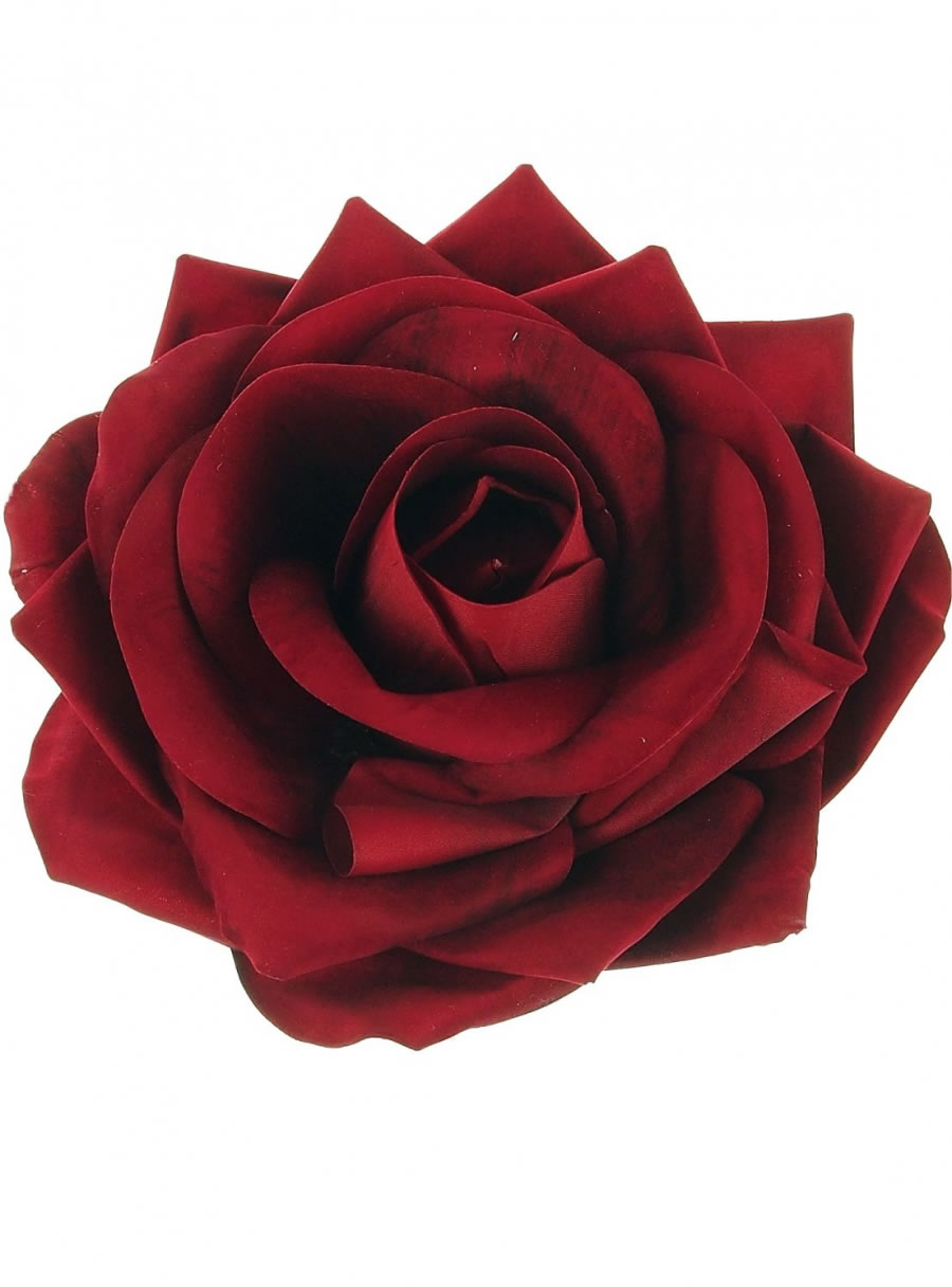 Extra Large Velvet Open Rose Head