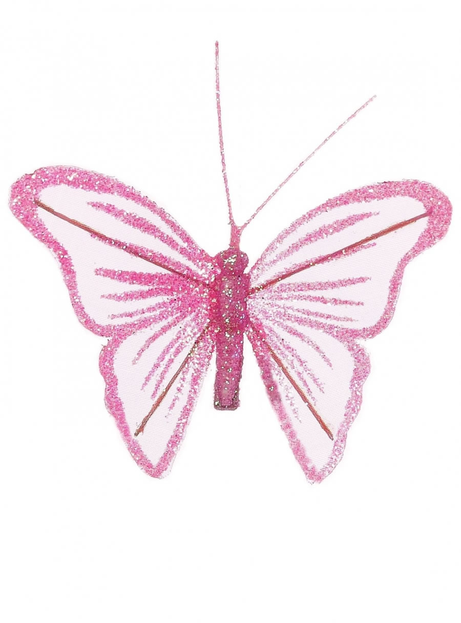 8cm Fairy Glittered Butterflies
