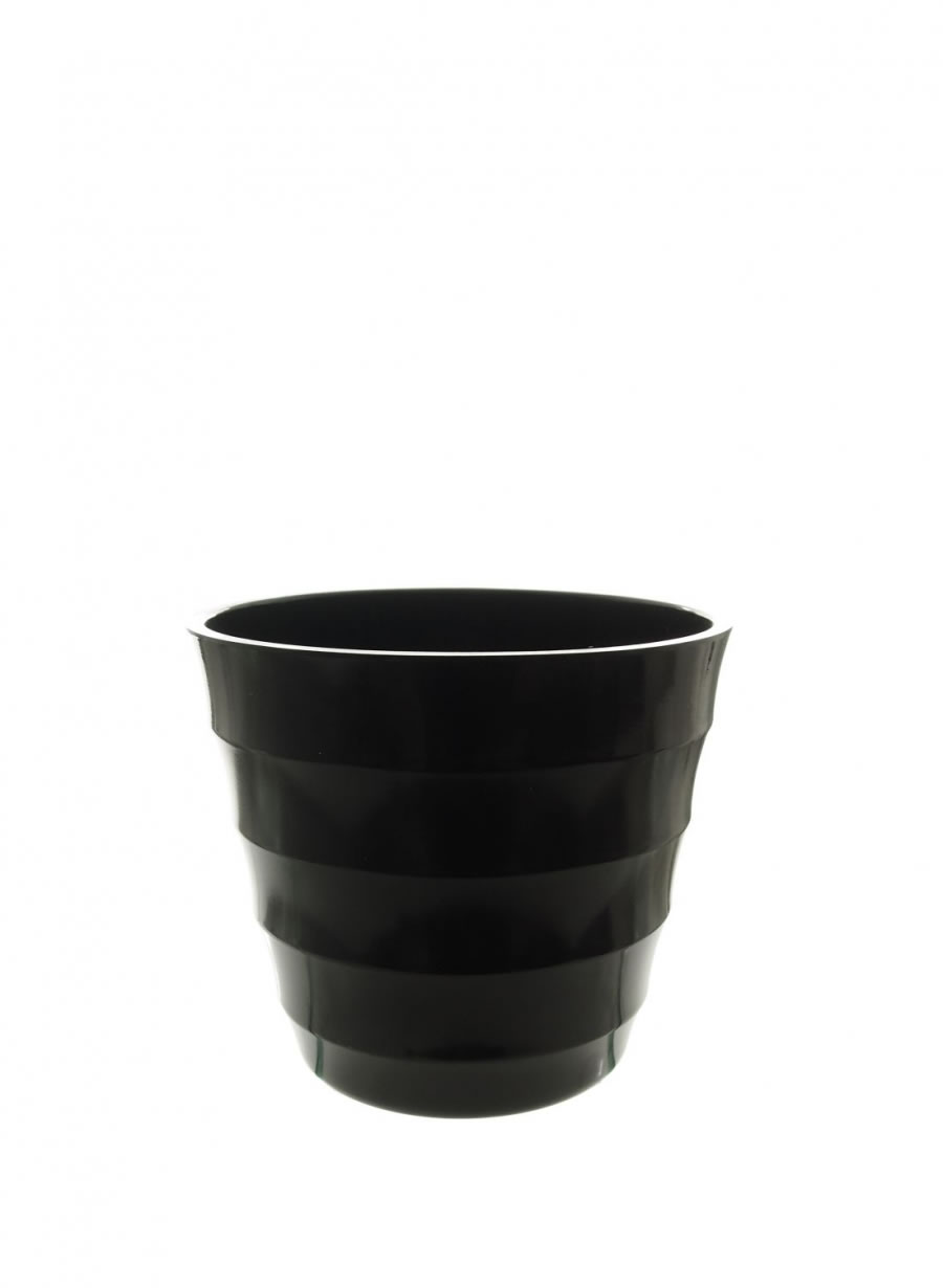 Ribbed Plastic Pots Small